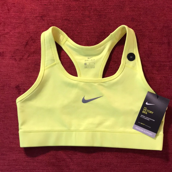 Nike Other - NWT Nike Pro neon yellow Victory sports bra